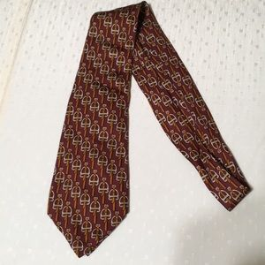 Auth Hermès Tie 100% Silk Made in Italy